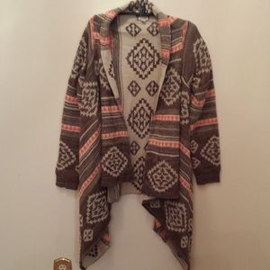 Aztec Waterfall Sweater Large Boho